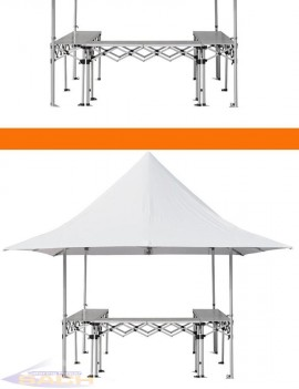 Folding aluminum counter