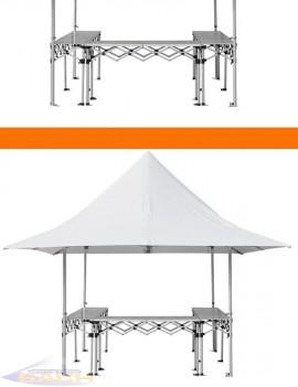Mostrador plegable de aluminio