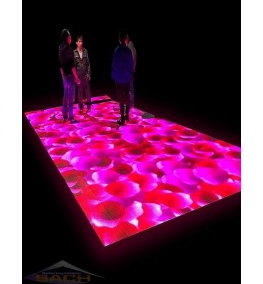 Led dance floor with...