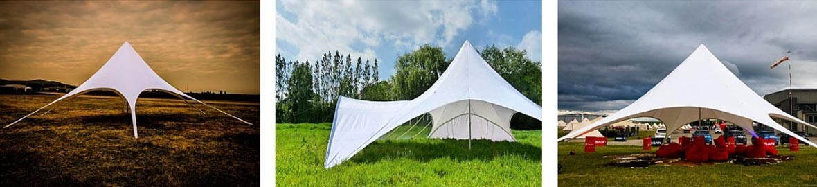 Star Shaped Marquee Portable party and event marquee with professional performance and haute couture style.