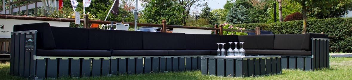 Sofas for terrace with chillout atmosphere