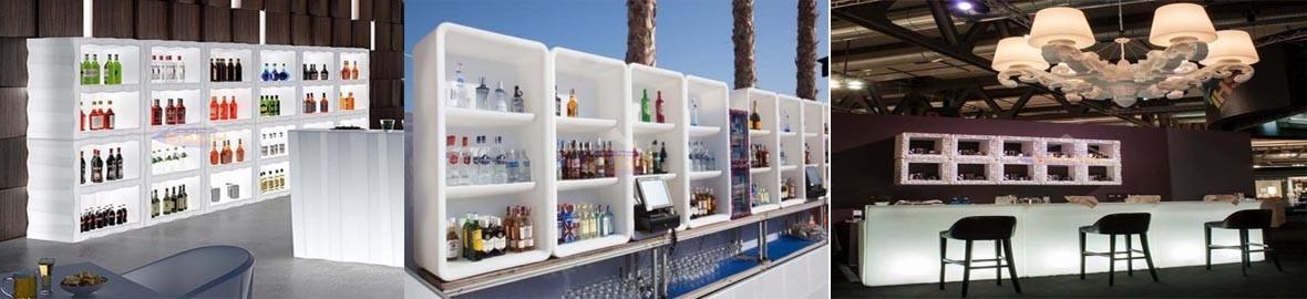 Light bottle rack for Bars with LED light