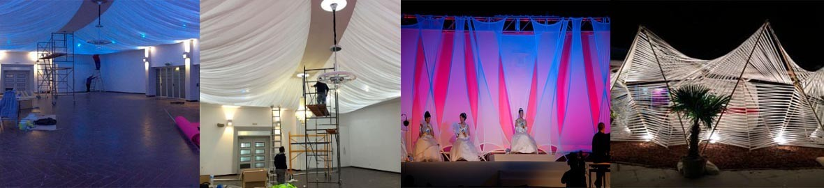 Textile project carried out for roofs and tents of our Nessel fabric.