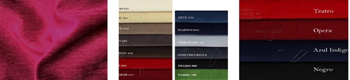 A velvet is ideal for curtains and curtains of any type of scenic space.