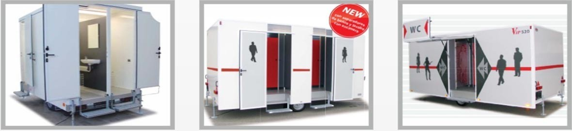 Restrooms Trailers, We design and manufacture products in order to improve the environmental portable restrooms,