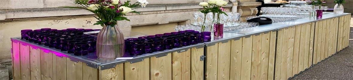 Barras mostradores para bares, tiendas, terrazas, terrazas, hoteles.