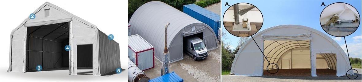 Instalações de armazenamento de rapida montagem e móvel para  Logística.