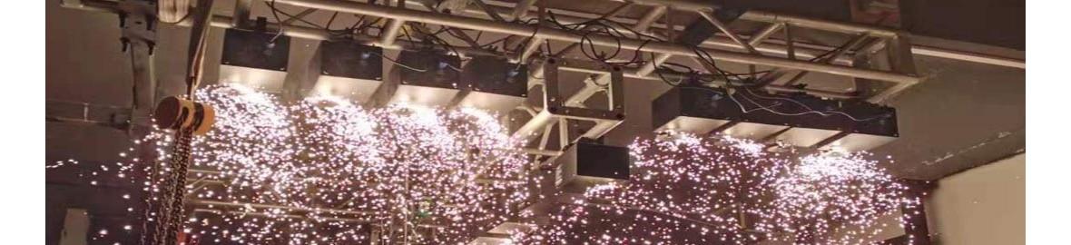 400 Watt Hanging and Rising Spark Flame Machine